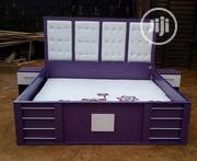 A Brand-new Purple Color Family Size Bedframe With Hulpostry Headboard | Furniture for sale in Lagos State, Lagos Mainland