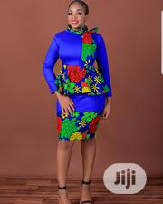 Denim+Ankara Skirt and Blouse | Clothing for sale in Lagos State, Ajah