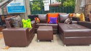 7- Seater L-shape Set With Throw Pillows | Home Accessories for sale in Lagos State, Ikeja