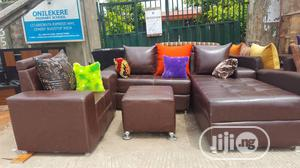7- Seater L-shape Set With Throw Pillows