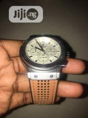 Hublot Brown Leather Silver Face Wristwatch   Watches for sale in Lagos State, Ikeja