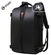 "Poso 15.6"" Water Resistant Laptop Backpack With Lock 
