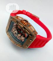 Richard Mille Skull Rubber Strap Watch - Red | Watches for sale in Lagos State, Lagos Island