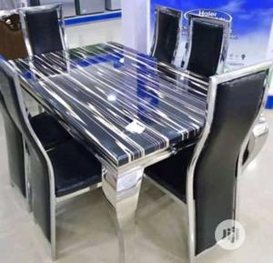 High Quality 6-Seater Marble Dining Table