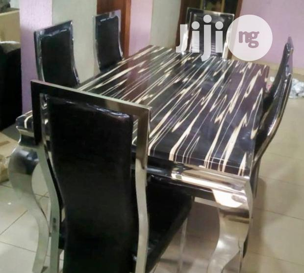 Imported Quality 6-Seater Marble Dining Table