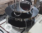 Classic Glass Top Round Center Table With 2side Stools | Kitchen & Dining for sale in Lagos State, Ibeju