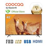 """40"""" LED FHD TV + Free Wall Bracket -black - Made By Skyworth 