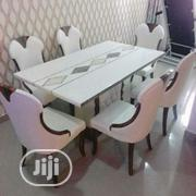Marble Dining Table By 6 Chairs | Furniture for sale in Lagos State, Ikeja