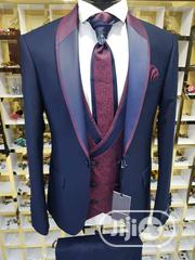 Quality Golden Canary Tuxedo Men's Pure Wool 3pcs Wedding Suits | Clothing for sale in Lagos State, Lagos Island