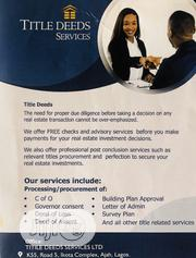 Title Deeds Of Services | Legal Services for sale in Lagos State, Ajah