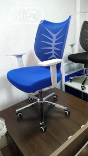 Blue Mesh Office Swivel Chair   Furniture for sale in Lagos State, Lekki Phase 1