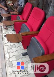 3in1 Auditorium Fabric Chair - Red and Wine   Furniture for sale in Lagos State, Ikeja