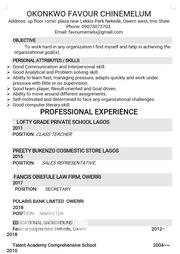 Advertising & Marketing CV | Advertising & Marketing CVs for sale in Imo State, Owerri-Municipal