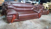 Birdlike Sofa Chair By 7 Seaters. Brown Leather | Furniture for sale in Abia State, Aba North