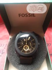 Fossil Chronograph Brown Leather Wrist Watch   Watches for sale in Lagos State, Ikeja