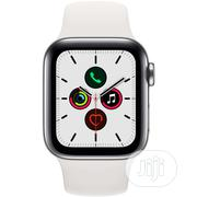 Iwatch Series 5 GPS Cellular 40mm Stainless Steel Case White   Smart Watches & Trackers for sale in Lagos State, Ikeja