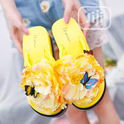 Butterfly Flower Thick Buttom Wedge Slippers | Shoes for sale in Rivers State, Port-Harcourt