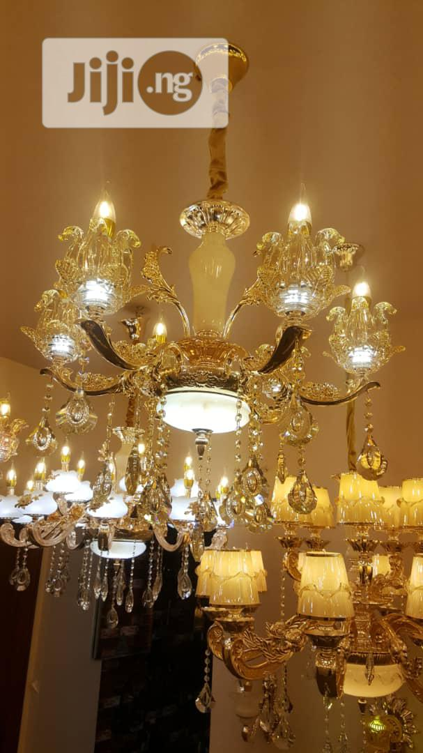 Latest Design Of By 6 Fingers Crystal Chandelier
