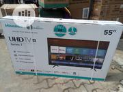 Hisence 55 Inches Smart Uhd Tv. Buy 1 Get 1 Hometheater Free | TV & DVD Equipment for sale in Lagos State, Ojo