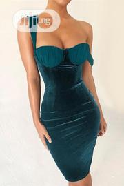 Velvet Bralette Bodycon Dress | Clothing for sale in Lagos State, Lagos Island