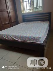 Wooden Queen Bed With Mattress (6x4.5) and Side Lockers   Furniture for sale in Lagos State, Surulere