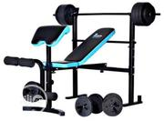 Bench Press With 50kg Barbell, Dumbbell Biceps Curl Pad | Sports Equipment for sale in Lagos State, Amuwo-Odofin