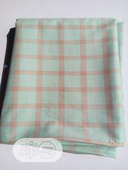 5 Star High Grade Box Check Green And Peach Cashmere Fabric DC0060 | Clothing for sale in Lagos State, Agege