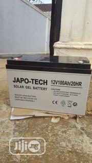 Japo_ Tech 12v 100ah Battery | Solar Energy for sale in Lagos State, Ojo