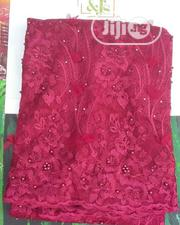 Red Lace 1 Yard | Clothing for sale in Rivers State, Port-Harcourt