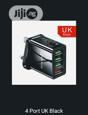 UK Plug Charger (3 Pins & 4 Ports)   Accessories for Mobile Phones & Tablets for sale in Enugu State, Enugu