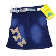 Jean Skirt With Butterfly Design 4-10yrs | Children's Clothing for sale in Lagos State, Isolo