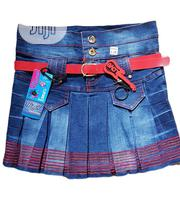 Cute Children Jean Skirt With Red Design 3-7yrs | Children's Clothing for sale in Lagos State, Isolo