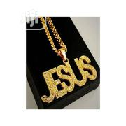 Jesus Statement Gold Pendant and Necklace | Jewelry for sale in Lagos State, Surulere