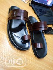 1st Class Brown Leather Palm, Slip On, Slippers, Sandals | Shoes for sale in Lagos State, Mushin