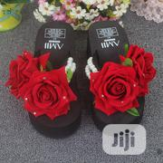 Rose Flower Wedge Slippers | Shoes for sale in Rivers State, Port-Harcourt