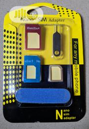 Universal 5 In 1 Nano Sim Card Adapters   Accessories for Mobile Phones & Tablets for sale in Delta State, Warri