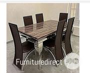 Marble Bronixx Dining Set + 6 Sitting Dinning Chairs | Furniture for sale in Abuja (FCT) State, Asokoro
