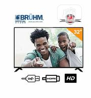 Bruhm 32-inch BFP-32LEW LED TV- Black With FREE Wall Bracket | Accessories & Supplies for Electronics for sale in Lagos State, Ikeja