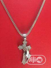 Studded Crucifix Pendant Chain - Gold   Jewelry for sale in Lagos State, Lagos Island