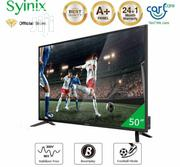 "Syinix 50"" Inch Android 4K UHD Smart LED TV - 50A710U- Black 