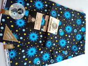 Blue, Yellow Turquoise High Grade Ankara DC0005 | Clothing for sale in Lagos State, Agege