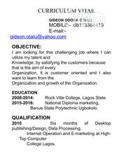 Accounting & Finance CV | Accounting & Finance CVs for sale in Lagos State, Lagos Mainland