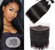 Remy 10A Russianvirgin Hairstrait Bundles With Free 13×4 Frontalclosur | Hair Beauty for sale in Rivers State, Port-Harcourt