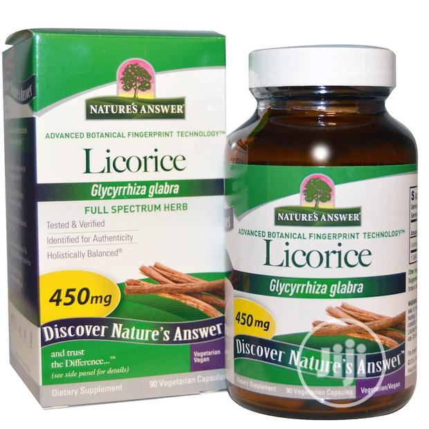 Nature's Answer Licorice 450 Mg - 90 Veg Caps Used to Soothe Digestion