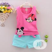 Clothing Sets Mickey Mouse Pink Top And Short | Children's Clothing for sale in Lagos State, Oshodi-Isolo