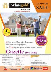 Land For Sale @Siriwon (Just After Dangote Before La-campaigne) | Legal Services for sale in Lagos State, Ibeju