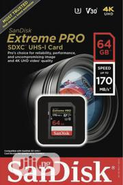 Sandisk Extreme Pro® Sdhctm And Sdxctm Uhs-i Card 64gb | Photo & Video Cameras for sale in Lagos State, Ikeja
