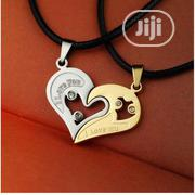 2 Pieces / Set Half Love Heart Rhinestone Pendant Necklaces | Jewelry for sale in Lagos State, Ikeja