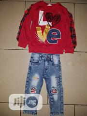 Lovely Girls RED Top and Jean | Children's Clothing for sale in Lagos State, Ipaja