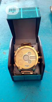 Diesel Large Face Analog/Digital Watct – Goldplated | Watches for sale in Lagos State, Agege